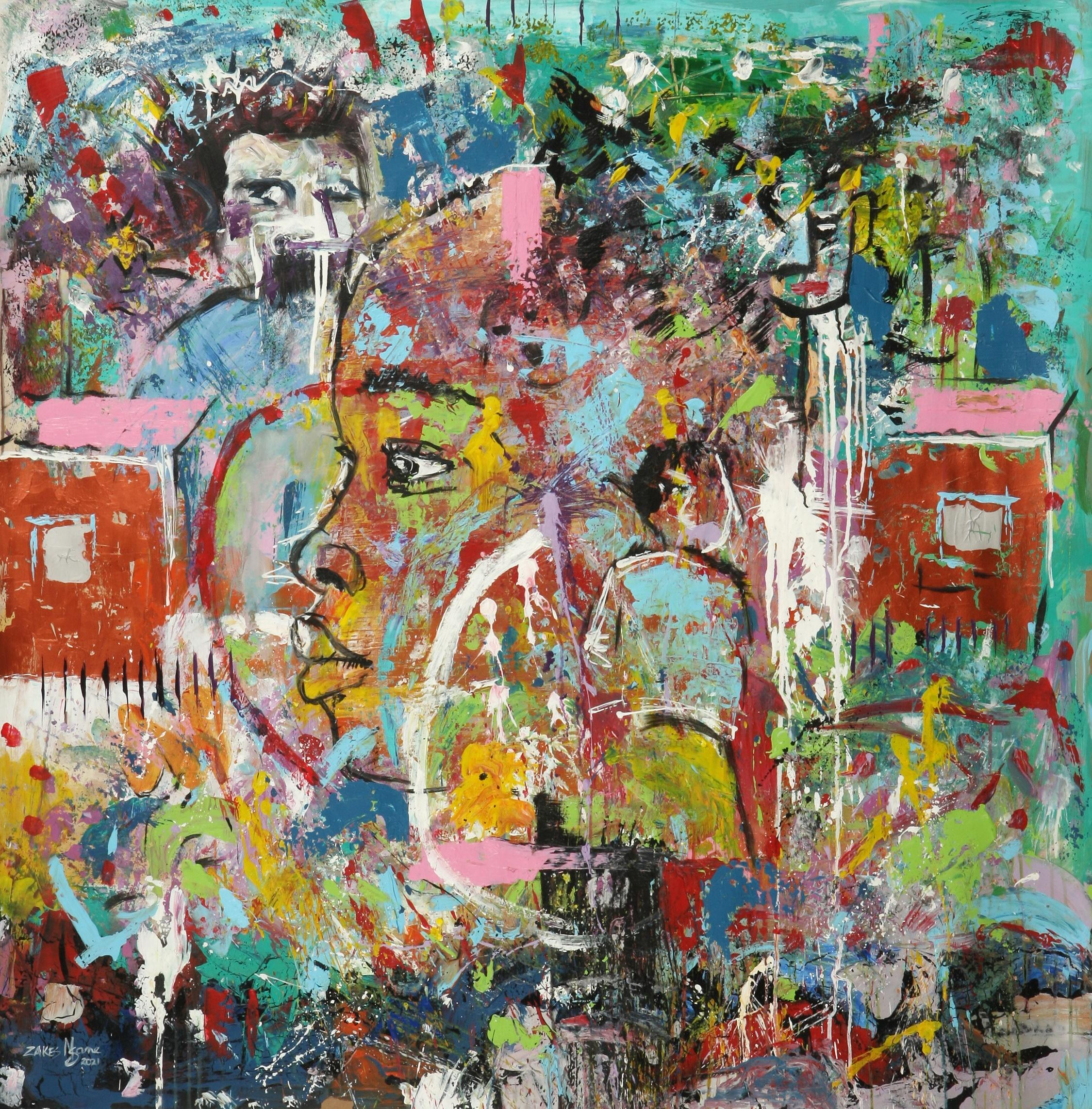Zakes Msane (South Africa 1986-) Abstract Ghetto II, 2021