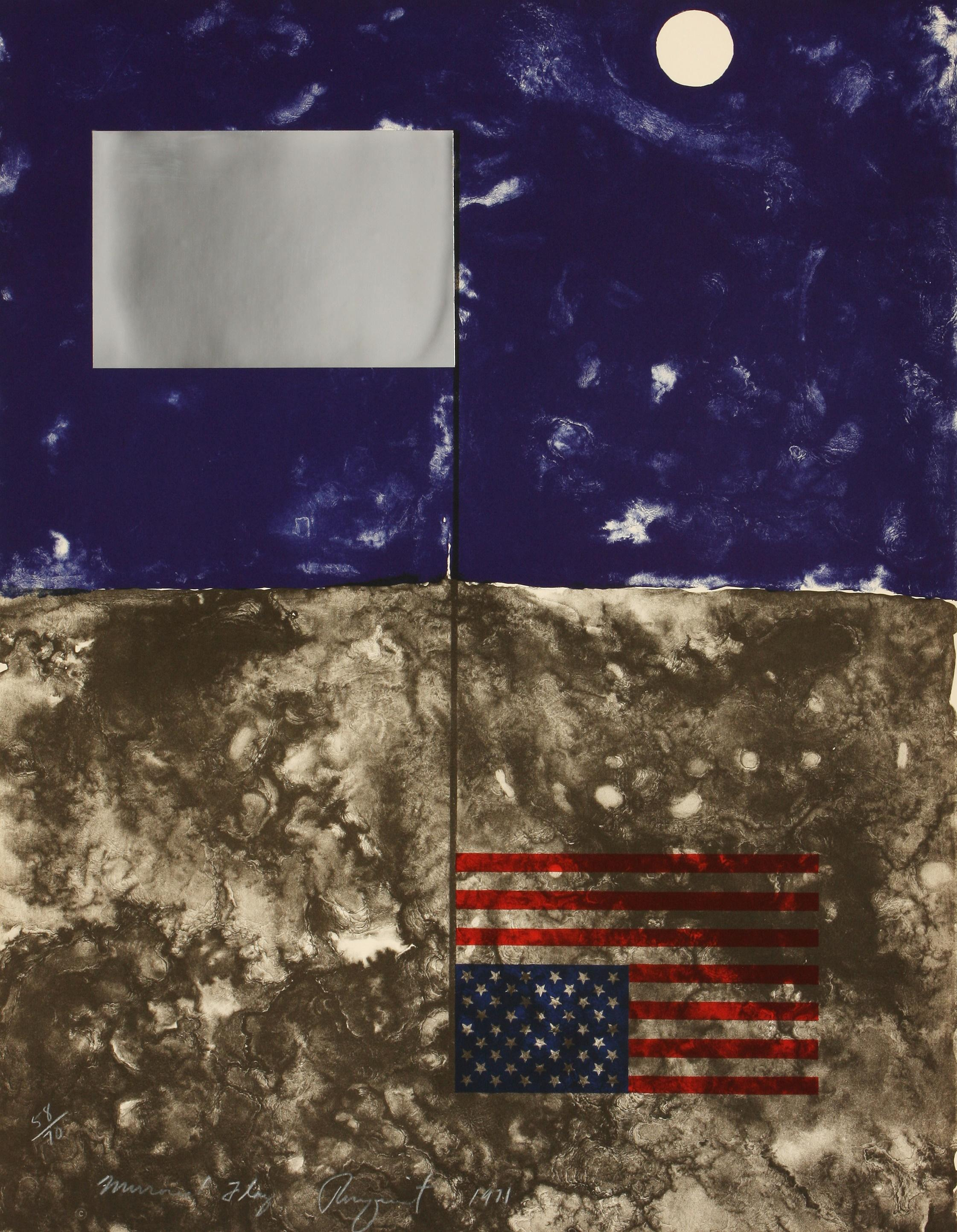 James Rosenquist (America 1933-2017) Mirrored Flag (from the Cold Light series), 1971