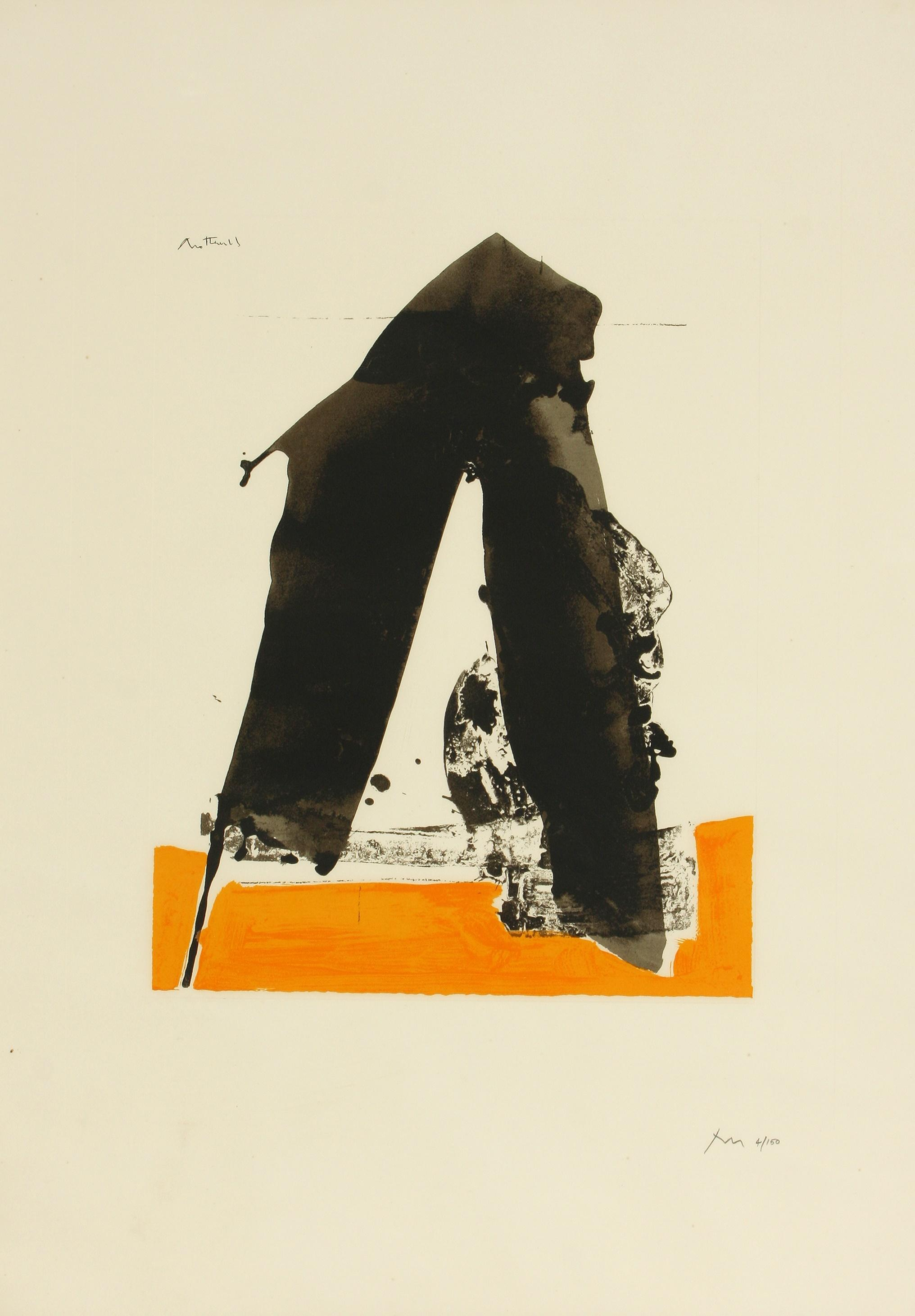 Robert Motherwell (America 1915-1991) Untitled (ref. 79) from the Basque Suite, 1970