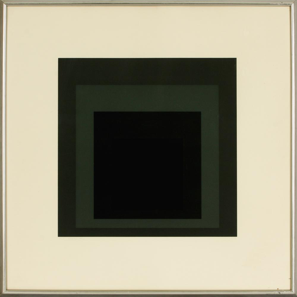 Josef Albers (Germany 1888-1976) I-S LXXIIa (Homage to the Square), 1972
