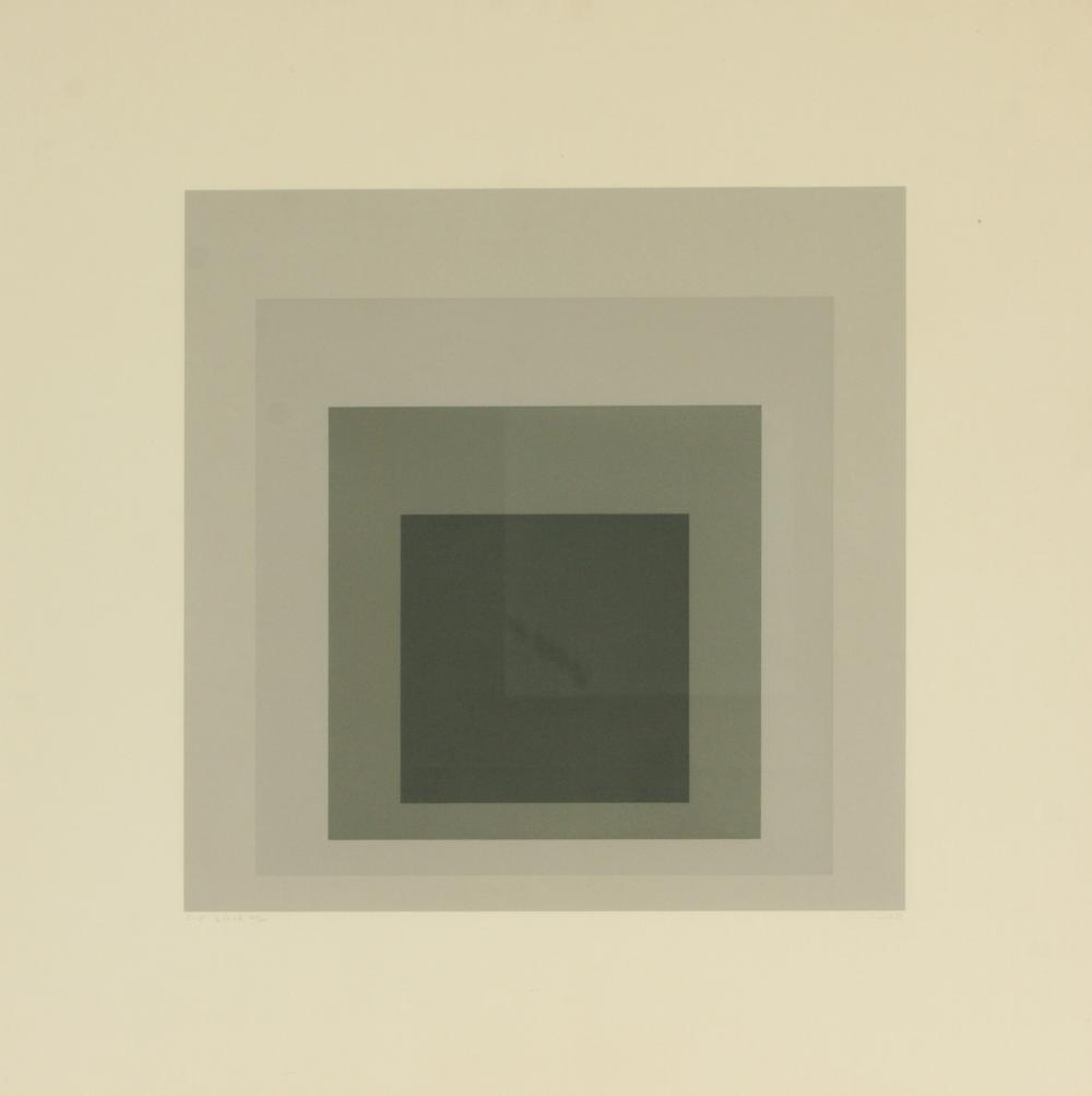 Josef Albers (Germany 1888-1976) I-S LXXIIb (Homage to the Square), 1972