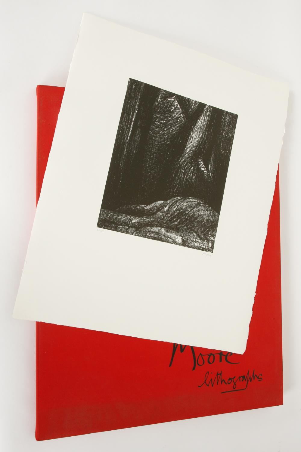 Henry Moore (United Kingdom 1898-1986) Auden Poems, Moore Lithographs (portfolio of 18 lithographs), 1973