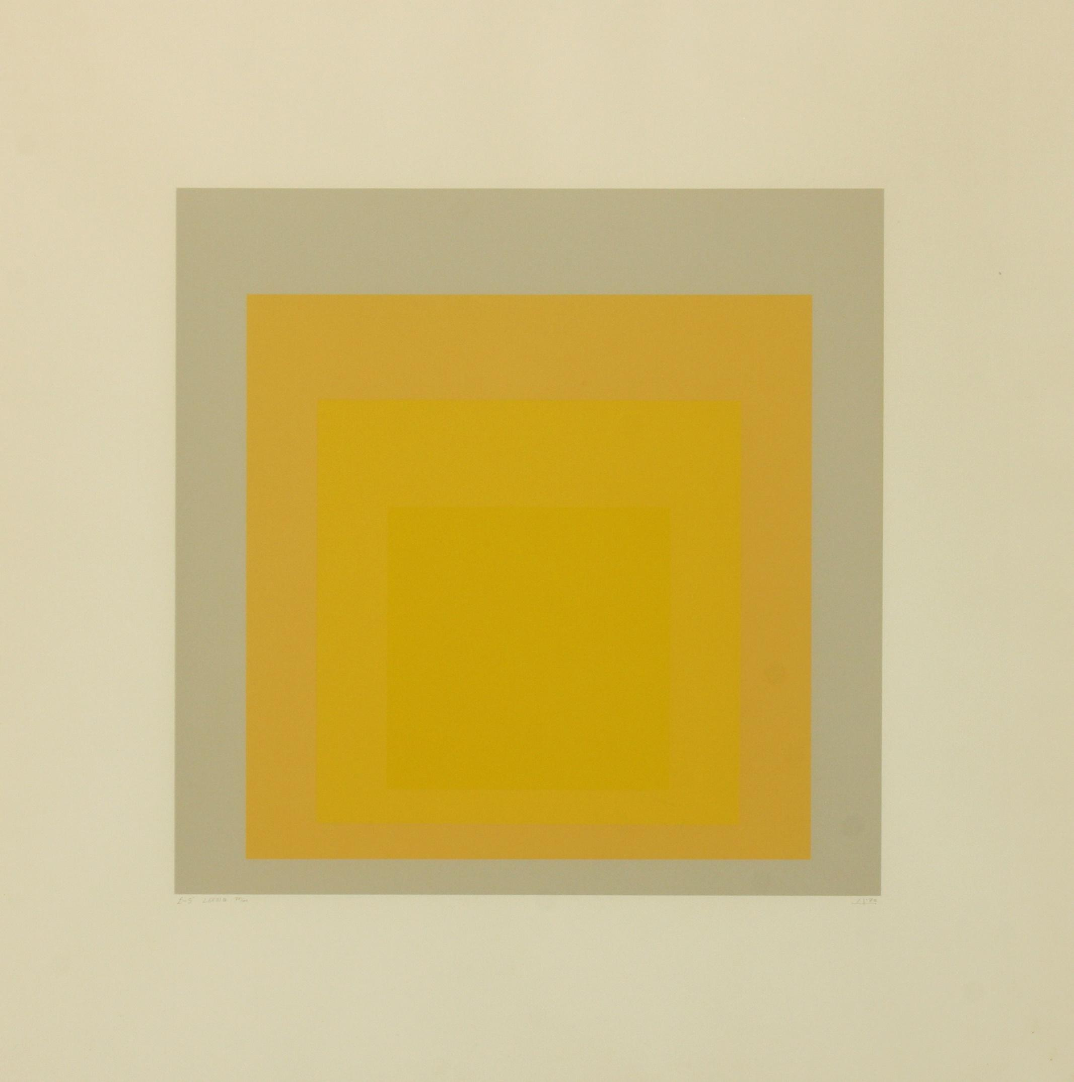 Josef Albers (Germany 1888-1976) I-S LXXIIIa (Homage to the Square), 1972