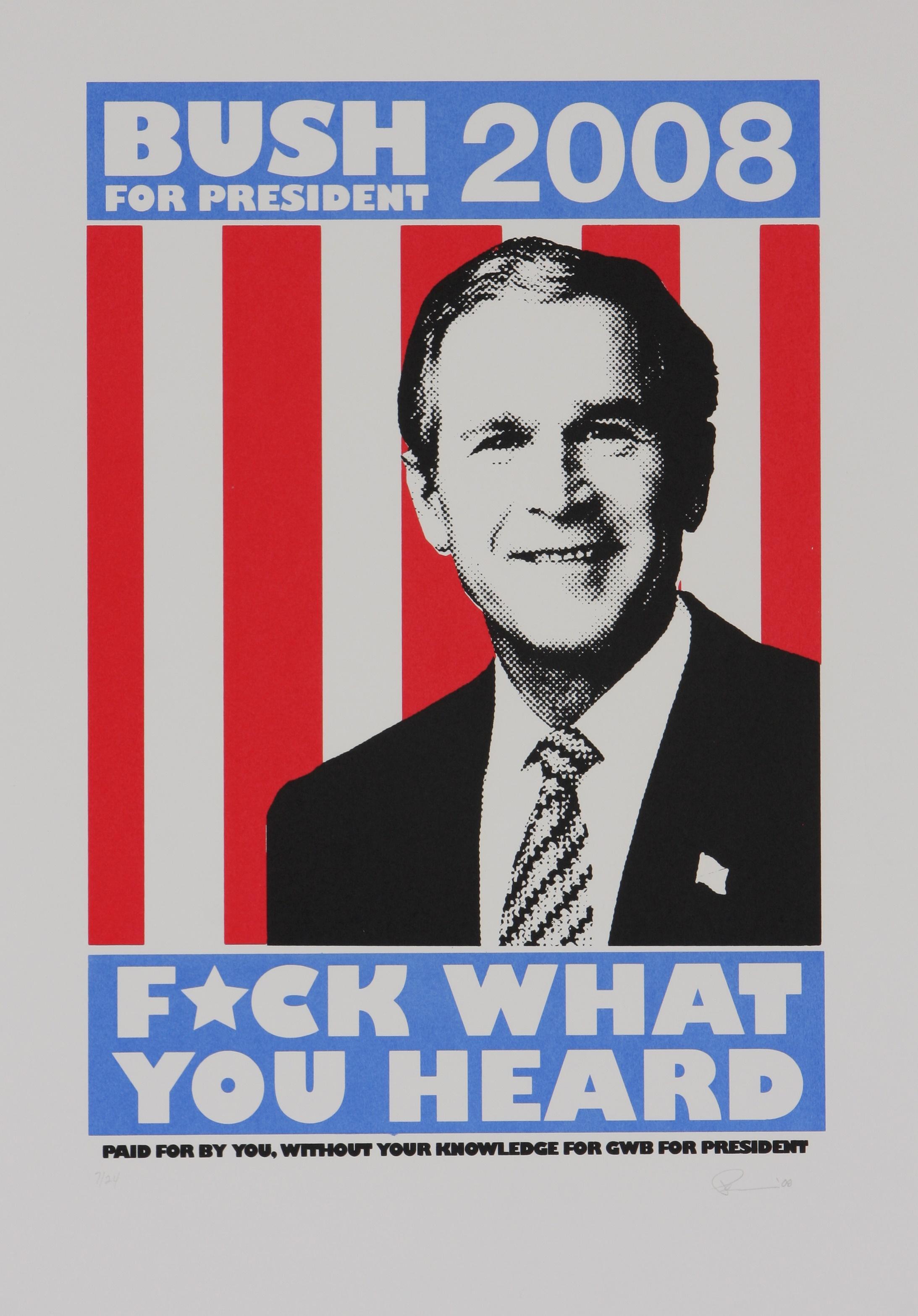 Fahamu Pecou (America 1975-) Bush, 2008