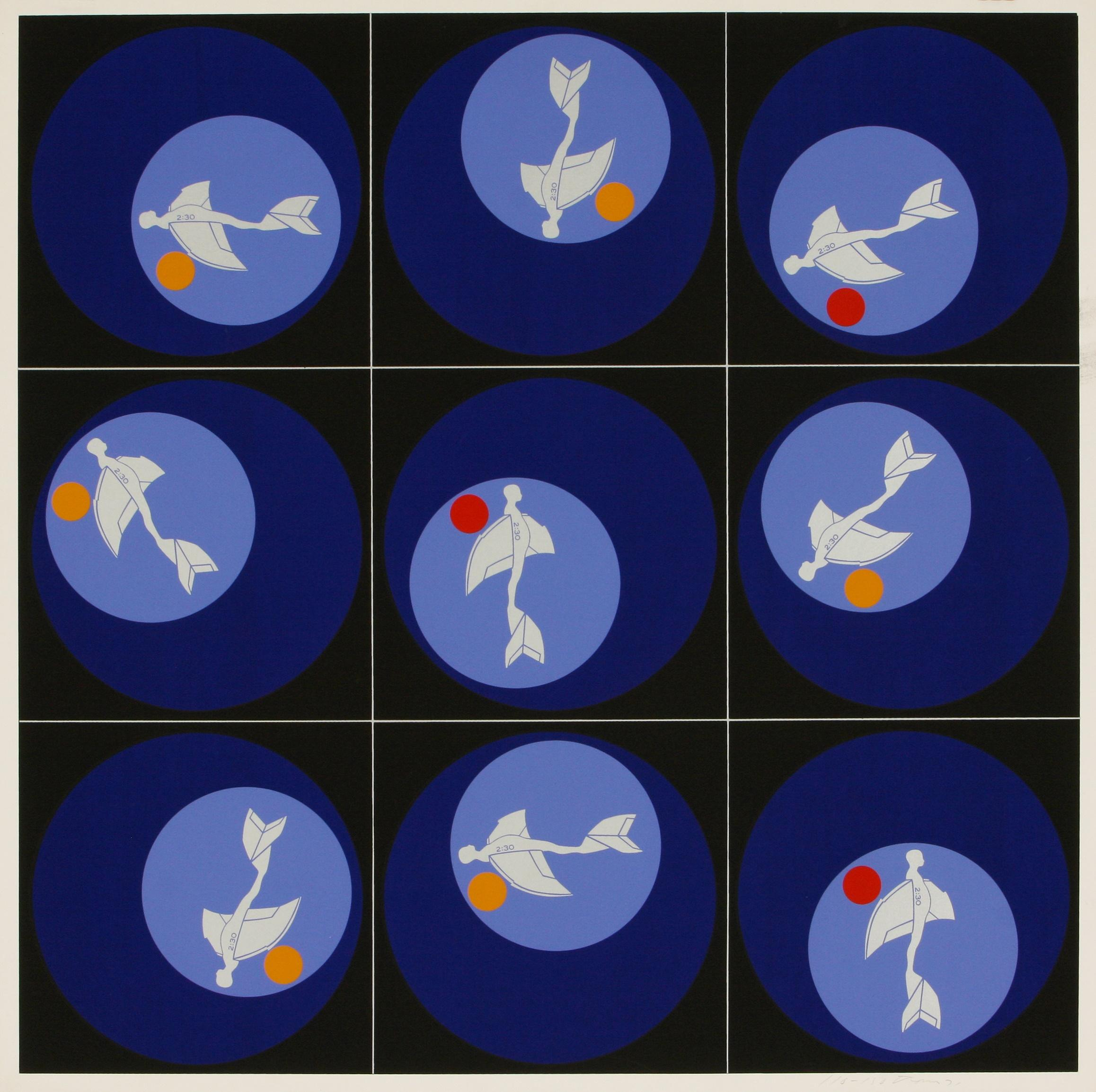 Ernest Trova (America 1927-2009) Planes' from Study/Falling Man (Shadows, Planes and Targets), 1972