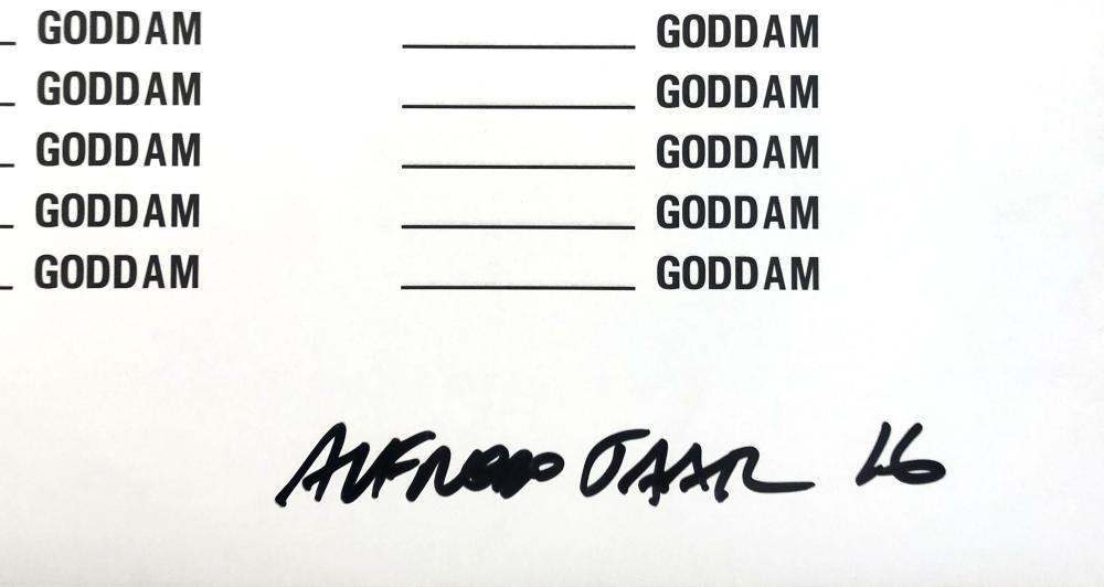 Alfredo Jaar (Chile 1956-) MISSISSIPPI GODDAM poster, 2016