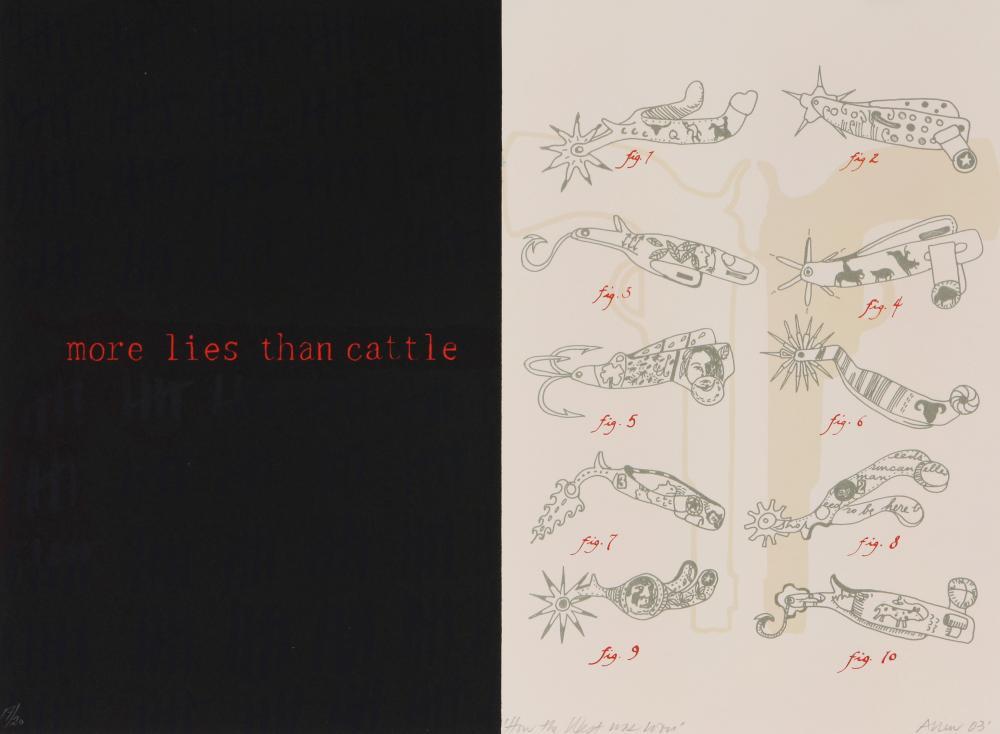 Lynne Allen (America 1949-) How the West was won, 2003