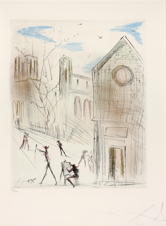 Salvador Dali (Spain 1904-1989) St. Julien le Pauvre, 1971