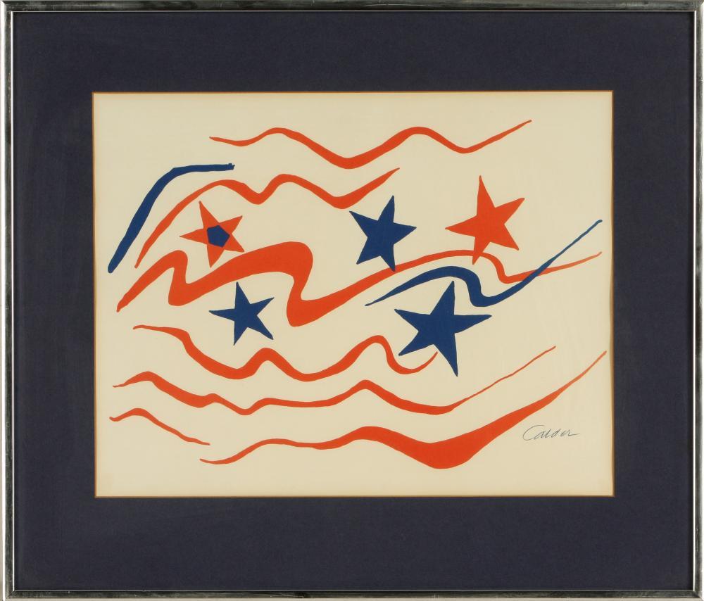 Alexander Calder (America 1898-1976) Flying Colours (Stars and Stripes), 1976