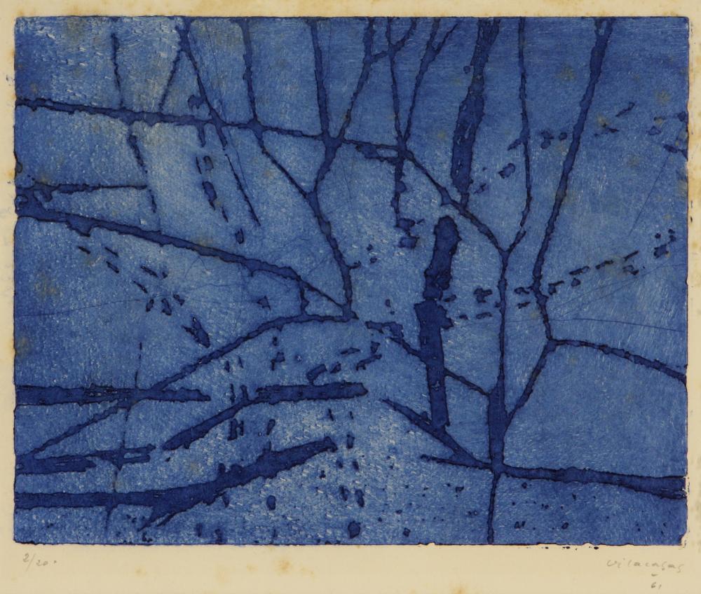 Joan Vilacasas (Spanish 1920-2007) Untitled (Planimetría), 1961