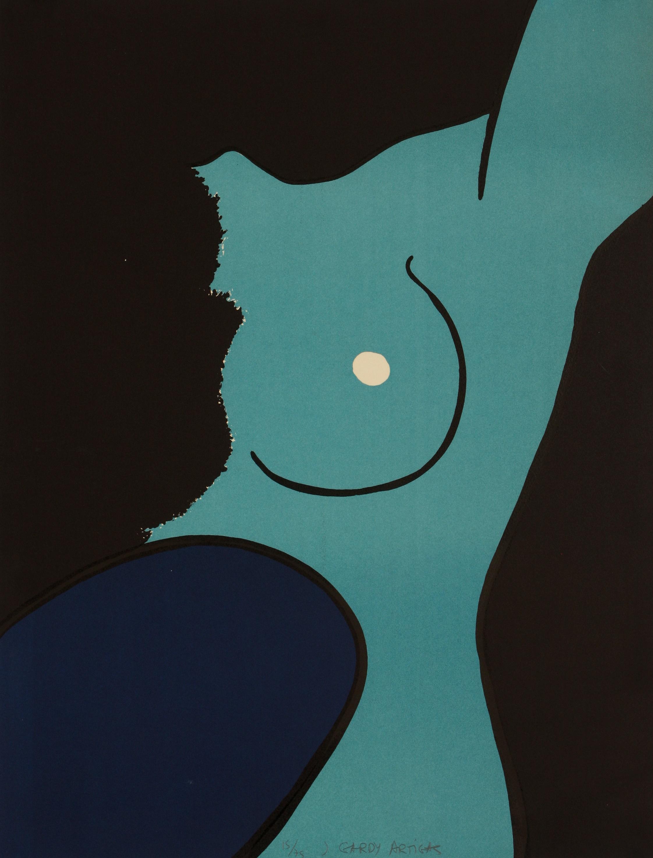 Joan Gardy Artigas (Spain 1938-) Female form in blue
