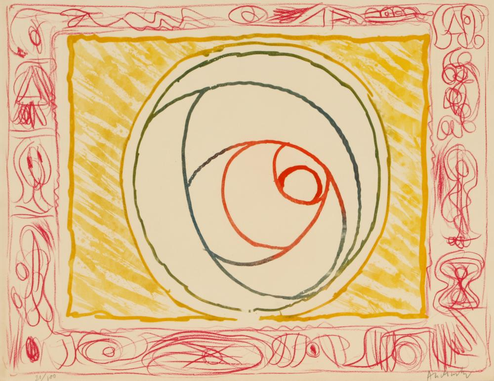 Pierre Alechinsky (Belgium 1927-) Untitled