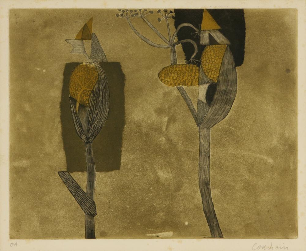 Brigitte Coudrain (France 1934-) Plant forms
