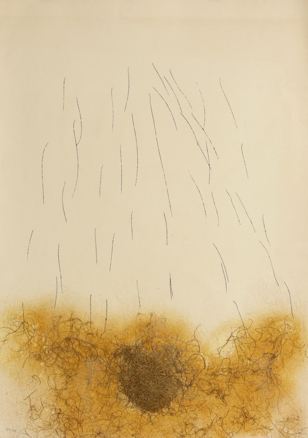 Antoni Tàpies (Spain 1923-2012) Le Crin (Horsehair), 1971