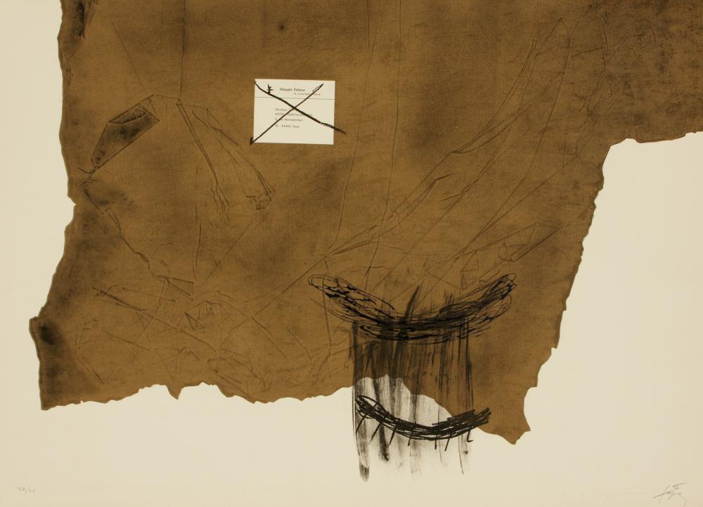 Antoni Tàpies (Spain 1923-2012) Papier Kraft (Craft Paper), 1971