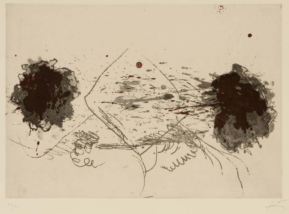 Antoni Tàpies (Spain 1923-2012) Composition Symétrique (Symmetrical Composition), 1970