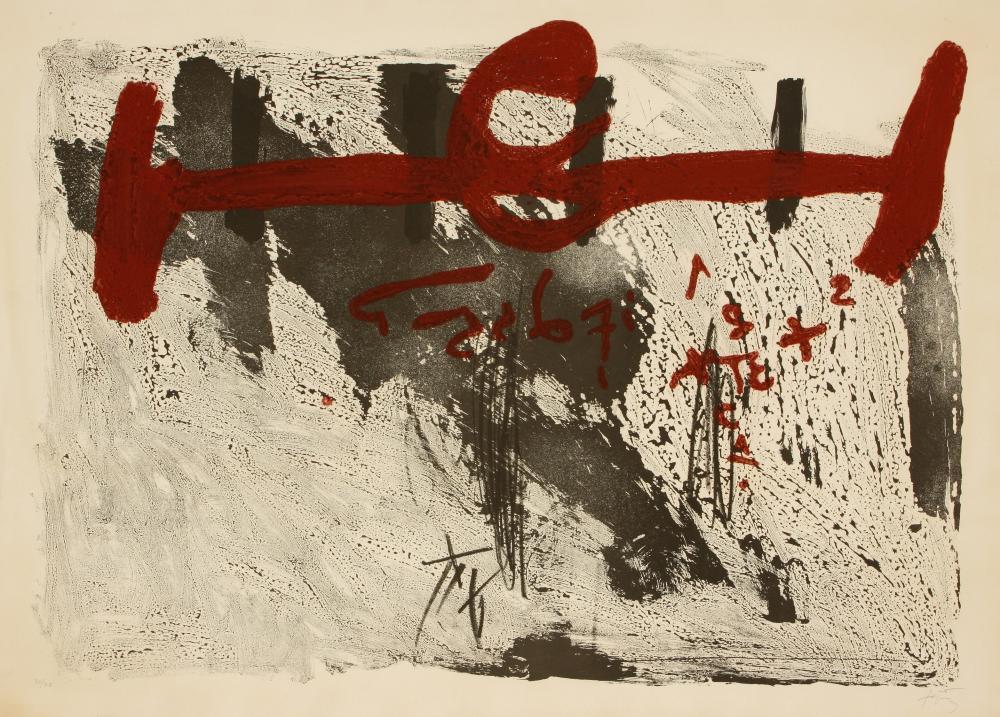 Antoni Tàpies (Spain 1923-2012) Taches et Chiffres (Spots and Numbers), 1972