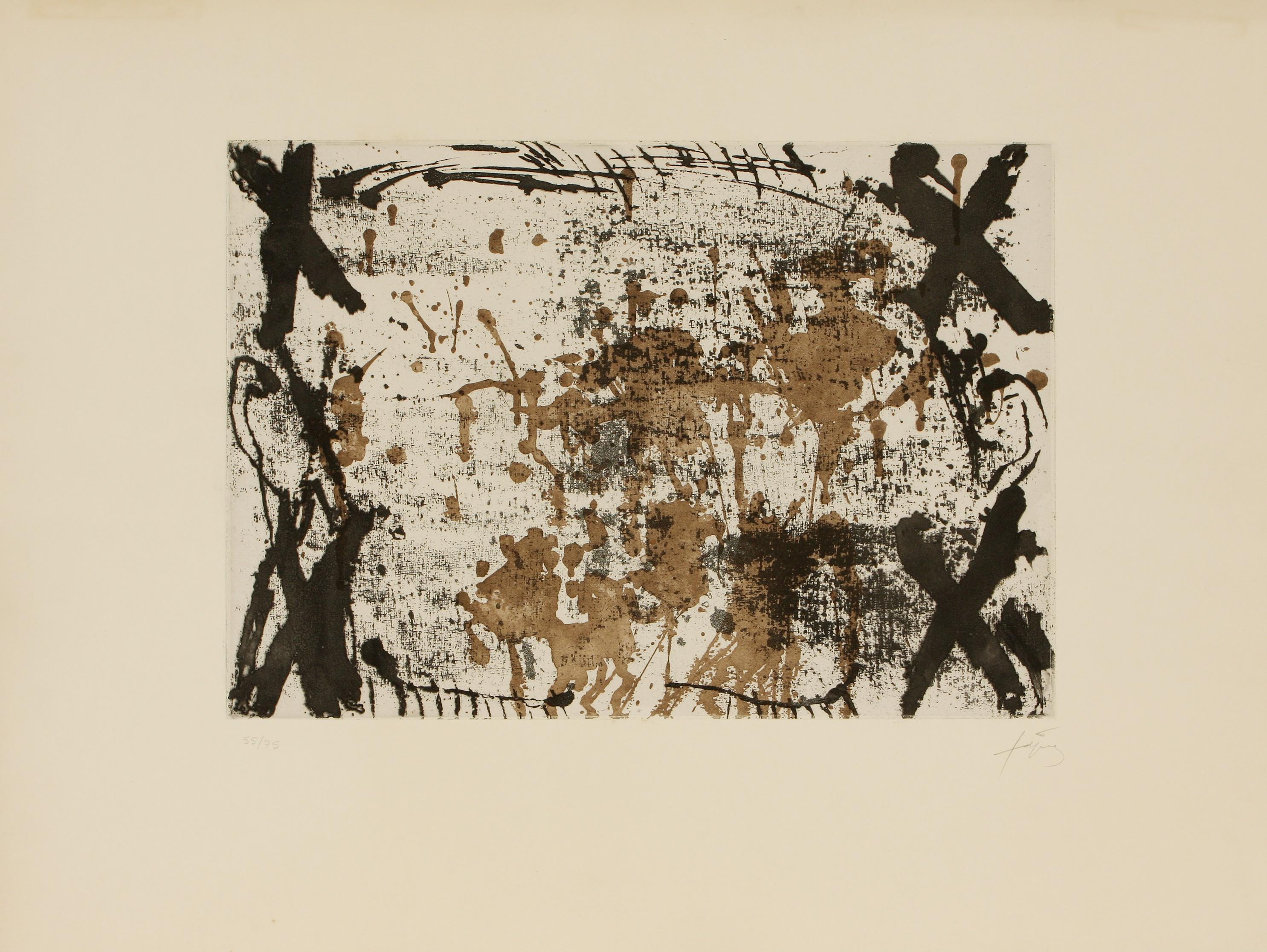 Antoni Tàpies (Spain 1923-2012) Les Quatre Croix (The Four Crosses), 1969