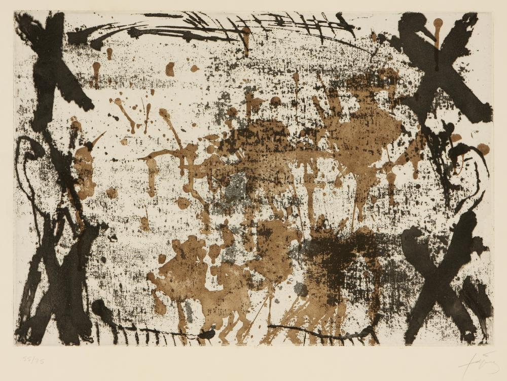 Antoni Tàpies (Spain 1923-2012) Les Quatre Croix (The Four Crosses), 1969