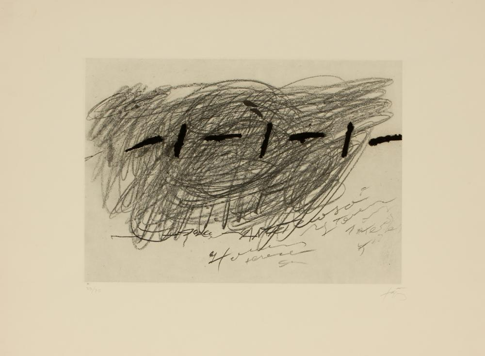 Antoni Tàpies (Spain 1923-2012) L'Ecriture (Writing)