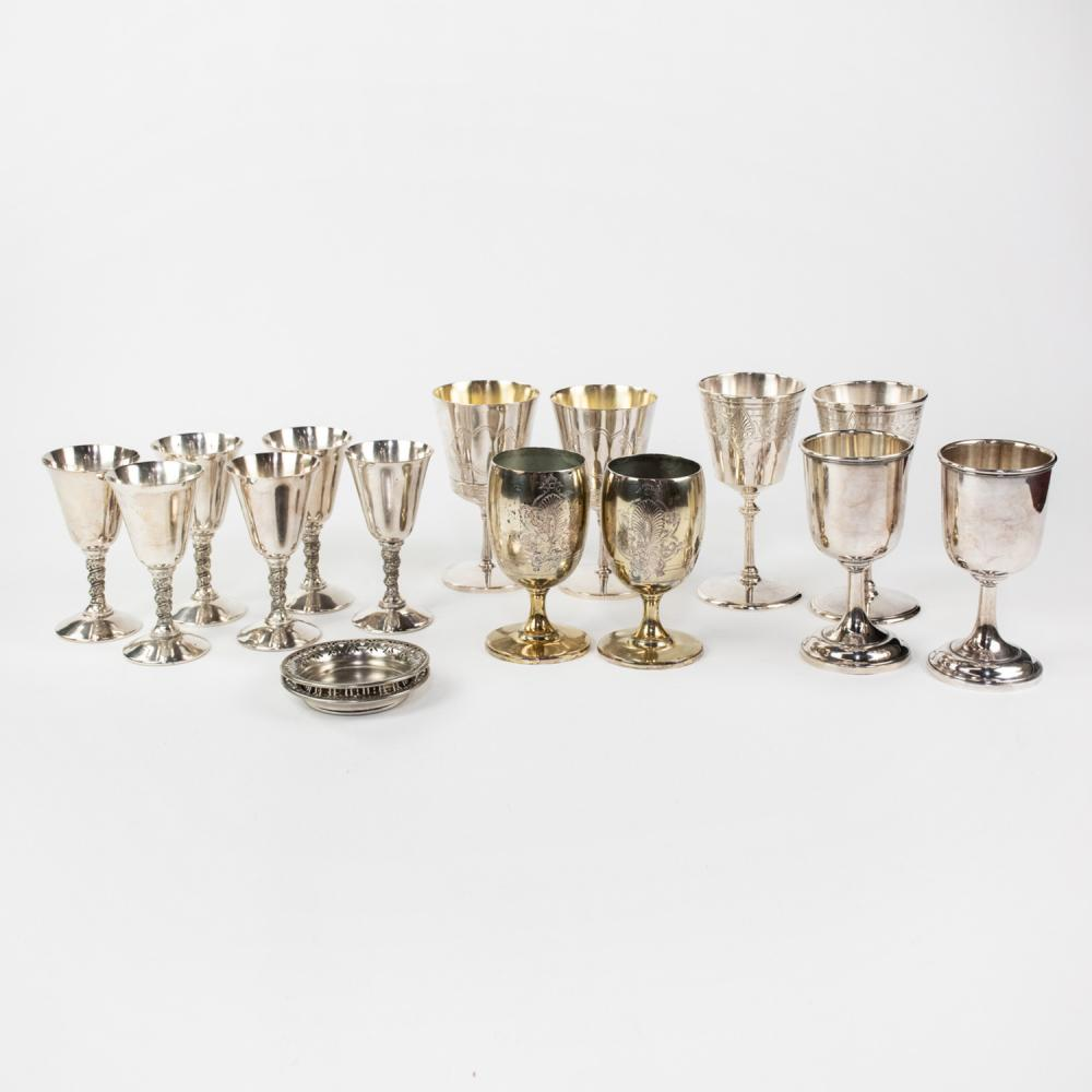 Grouping of Silver-Plated Pieces