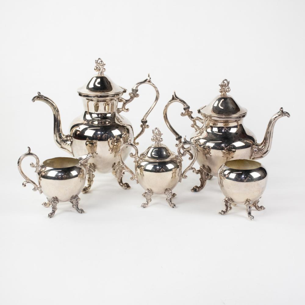 Birmingham Silver Co. Silver-Plated Tea Service