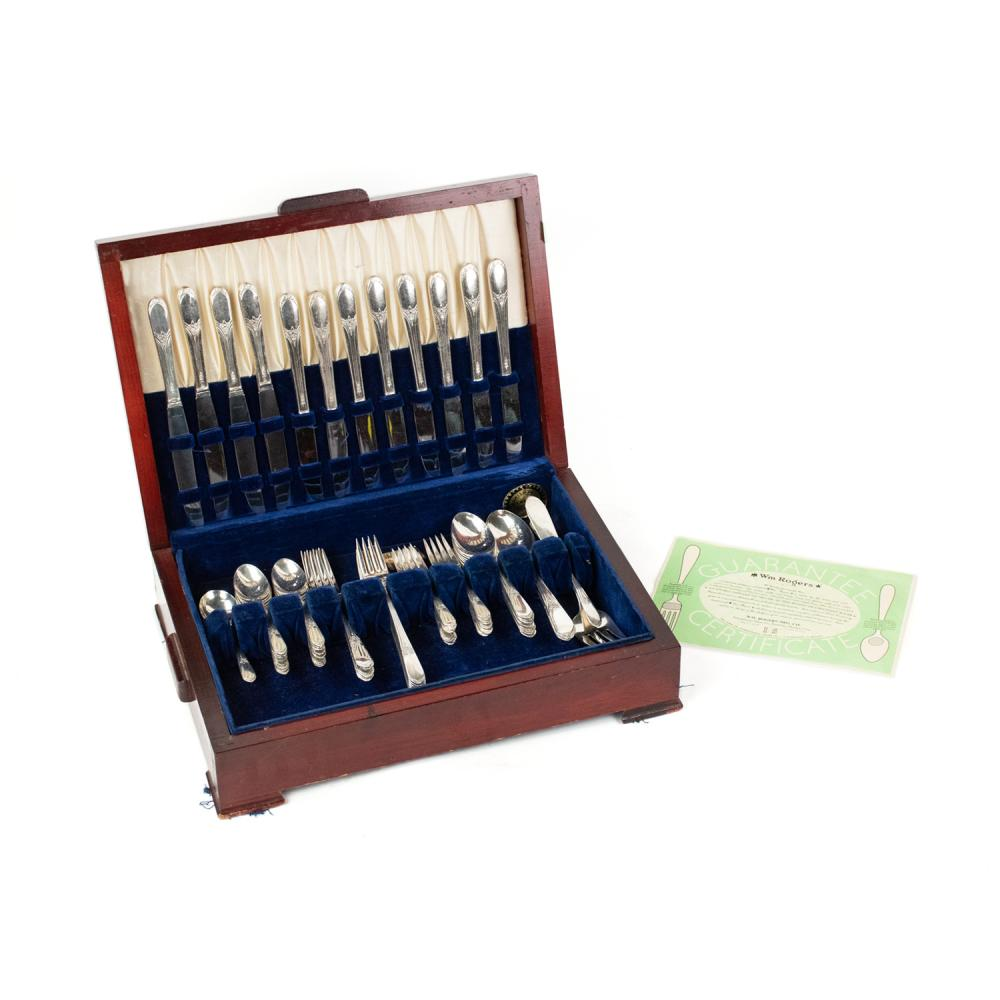 W.M. Rogers Silver-Plated Flatware Set