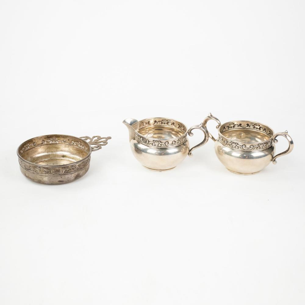 Gorham Sterling Silver Cream, Sugar, and Porridger Set
