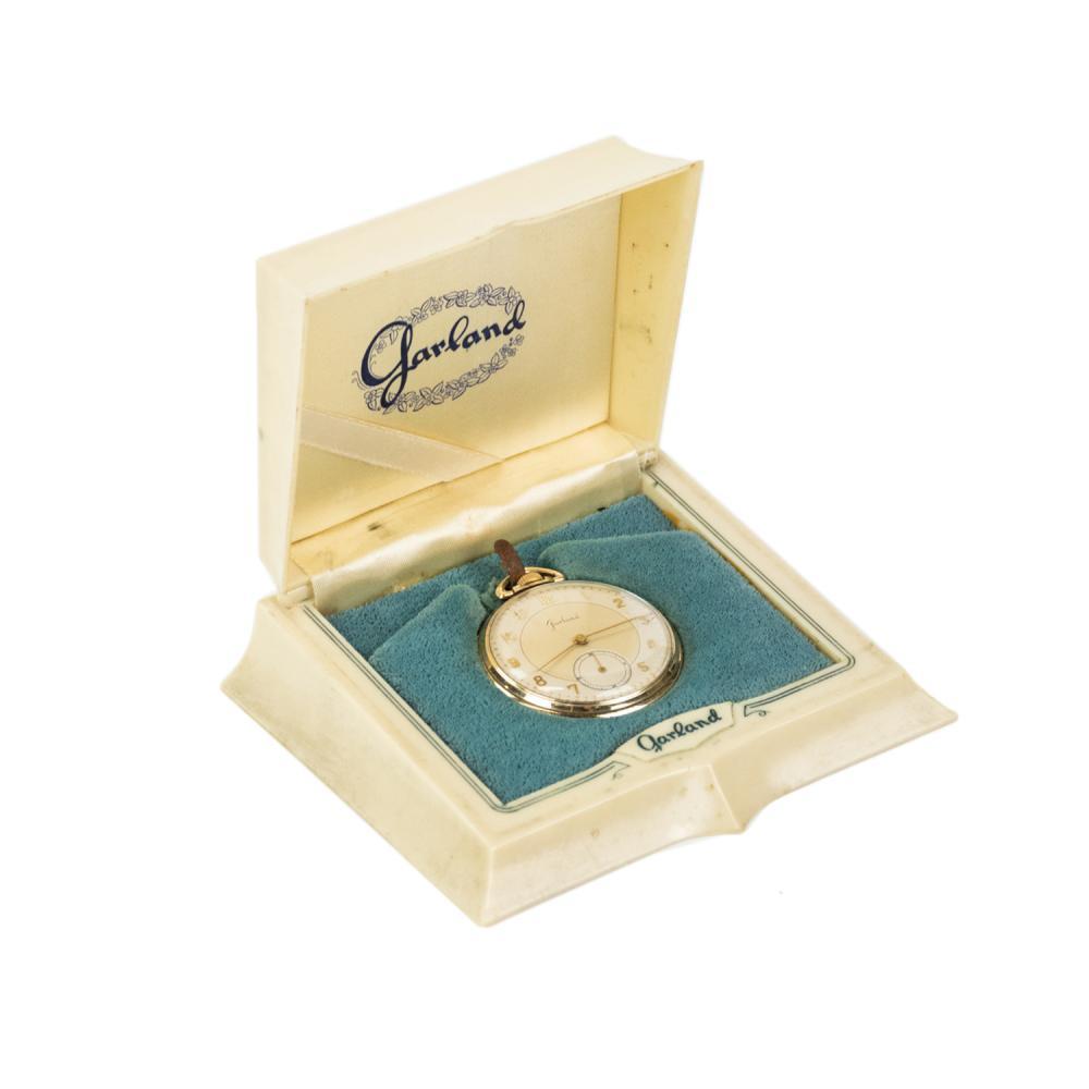 Garland 10K Rolled Gold-Plate Pocket Pocket Watch