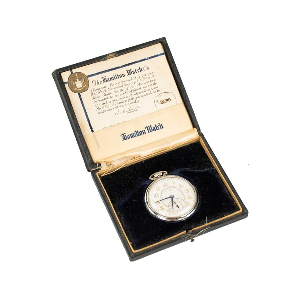 Hamilton 14K Gold-Filled Pocket Watch c. 1932