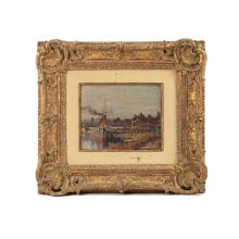 Claude Monet Signed Oil on Board