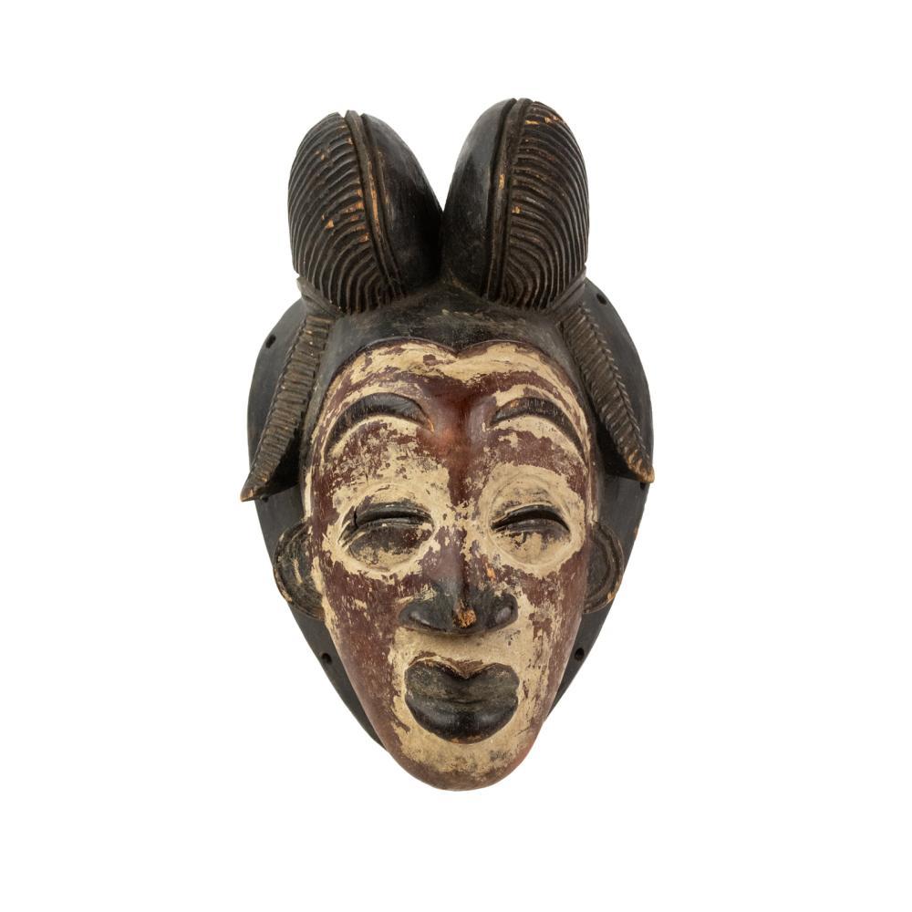 African Gabon Bi Lobed Punu Mukudj Mask