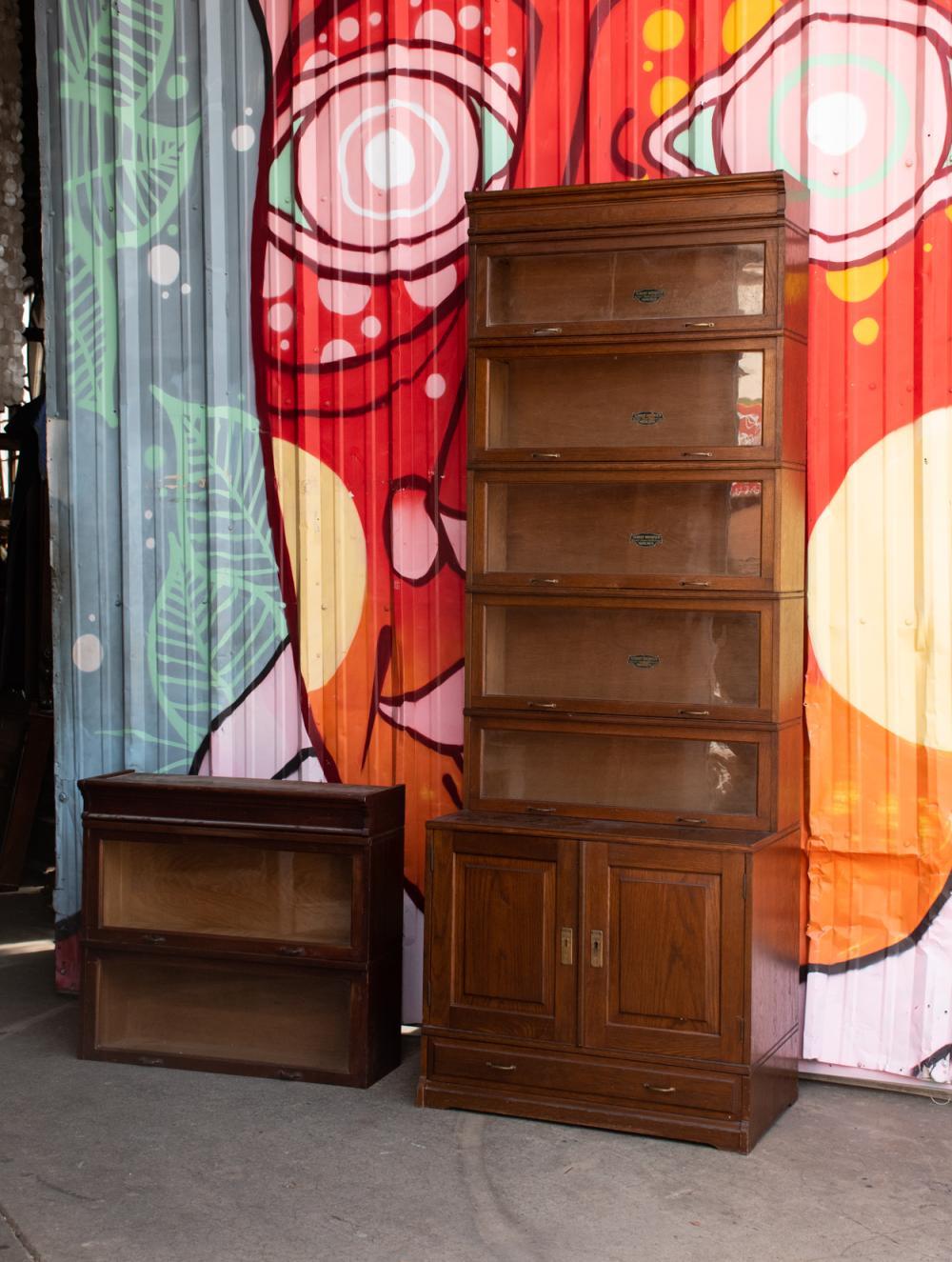 Albert Diesbach Mobler Oak Barrister Bookcase Cabinet