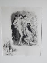 """Paul Emile Bécat (1885-1960) """"Le pied forchu"""",Original Radierung auf Japon ancien,Exemplar 1/10,Paris 1959,Bildausschnitt ca.27,5x22,5cm,ungerahmt"""