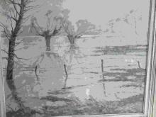 """Erich von Perfall(1882-1961)""""Niederrheinische Landschaft"""",Öl auf Leinwand,ca.61x70cm"""