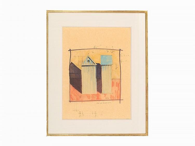Aldo rossi drawing studio per armadio cabina 1980 for Armadio per studio