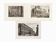 Giovanni Battista Piranesi, Group of 3 Etchings on Laid Papers