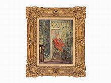 Édouard Vuillard, Man Seated by Window, Oil on Board