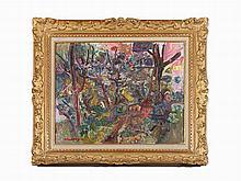 Pinchus Krémègne, Paysage, Oil Painting