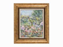 Hugue Claude Pissarro, La Glycine Dupont-Graal, Oil on Canvas