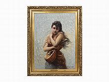 Edouard Bisson, La Cigale, Oil on Canvas, 1890