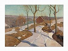 Attributed to Vilhelms Purvitis, Early Spring Landscape, Oil