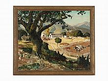 Vernon Jay Morse, The Dairy Farm, Oil on Canvas, 1934