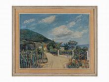 Lucien Adrion, Panorama des Vosges, Oil on Canvas, 1939
