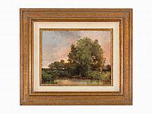 Alfred Maurer, Landscape at Dusk, Oil on Canvas
