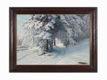 Konstantin Kryzhitsky, Winter Forest, Oil on Canvas, 1908