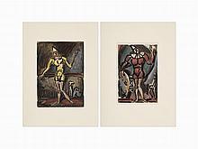 Georges Rouault, Le Cirque, Pair of Aquatints, 1930