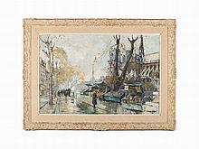 Constantin Kluge, Notre Dame de Paris, Oil on Canvas, 20th C.