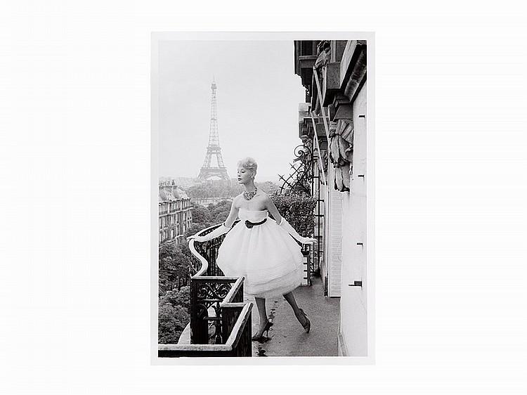 Christian Lemaire, Silver Print, 'Mannequin à la Tour Eiffel'