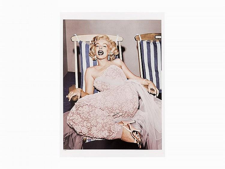 Frank Worth, Digital C-Print, Marilyn Monroe in Deckchair, 1954